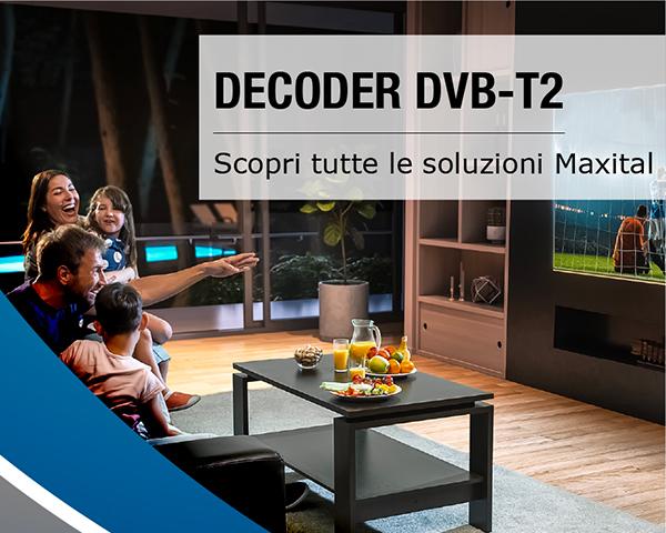 Decoder tv digitale terrestre dvb t2